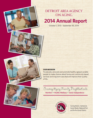 2014 Annual Report for Detroit Area Agency on Aging   Report cover imager