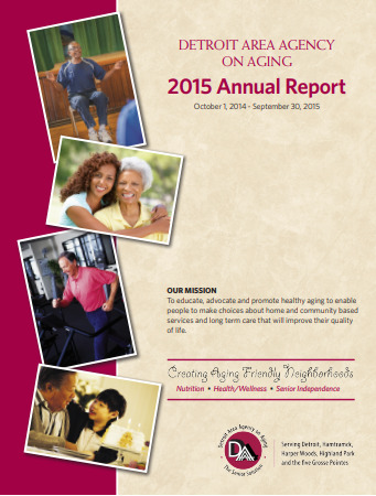 2015 Annual Report for Detroit Area Agency on Aging   Report cover imager