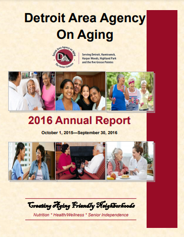 2016 Annual Report for Detroit Area Agency on Aging   Report cover imager