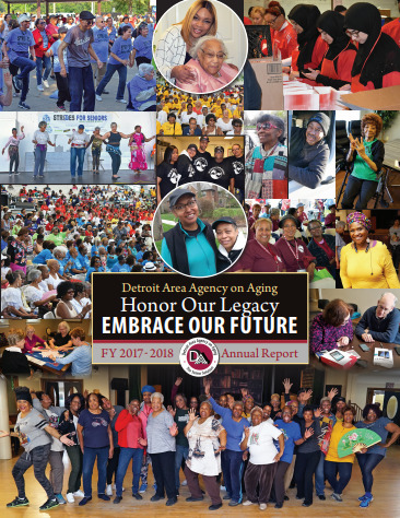 2018 Annual Report for Detroit Area Agency on Aging   Report cover imager