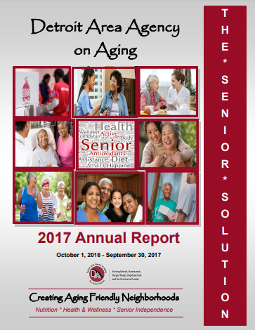 2017 Annual Report for Detroit Area Agency on Aging   Report cover imager
