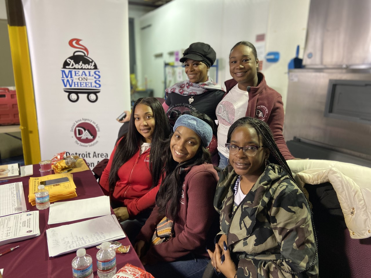 A group of DAAA volunteers at a Meals on Wheels event