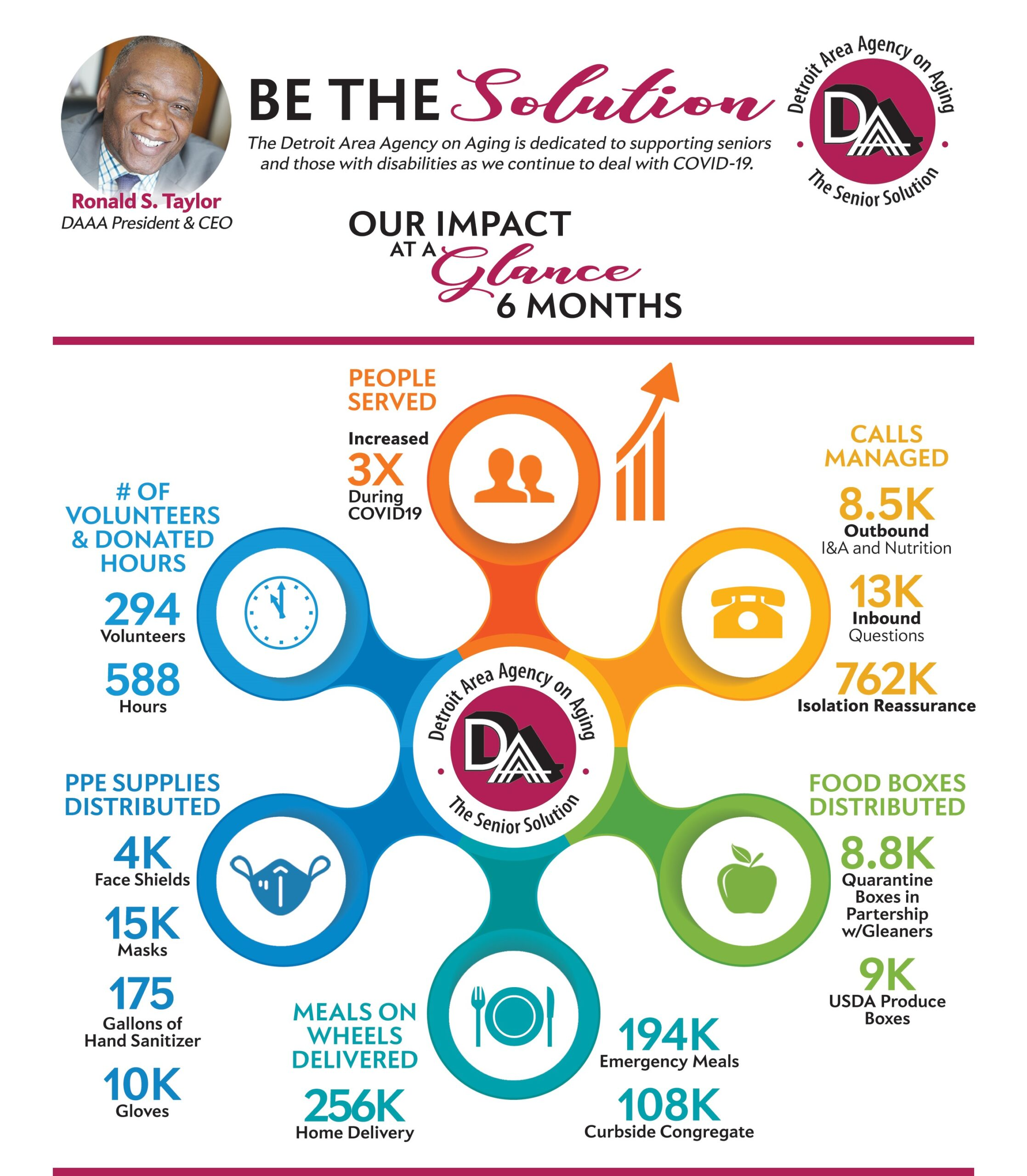 Be the Solution   Our Impact at a Glance in 6 Months   Detroit Area Agency on Aging